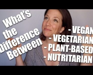 What's the Difference Between Vegan, Vegetarian, Plant-Based and Nutritarian?