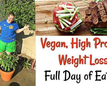 Vegan Weight Loss High Protein Full Day of Eating  