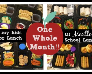 ONE MONTH of VEGETARIAN KIDS LUNCHES