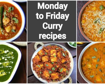 monday to friday simple curry recipes
